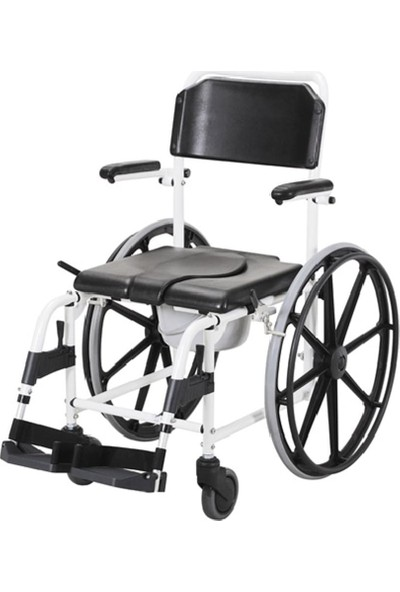 Poyli̇n P-618 Banyo Tuvalet Manuel Tekerlekli Sandalye / Bathroom Toilet Manual Wheelchair