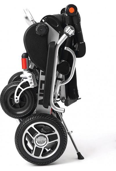 Poyli̇n P-208 Ultra Hafif Katlanabilir Akülü Tekerlekli Sandalye / Ultra Light Foldable Power Wheelchair