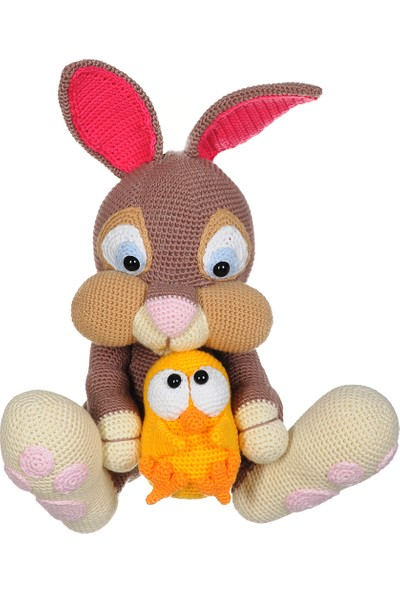 DFnBaBy Amigurumi Organik El Örmesi XXL Rabbit