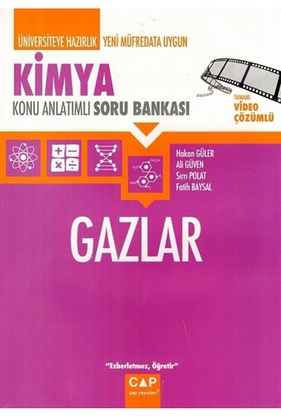 Çap Yayınları Kimya Gazlar Konu Anlatımlı Soru Bankası - Hakan Güler