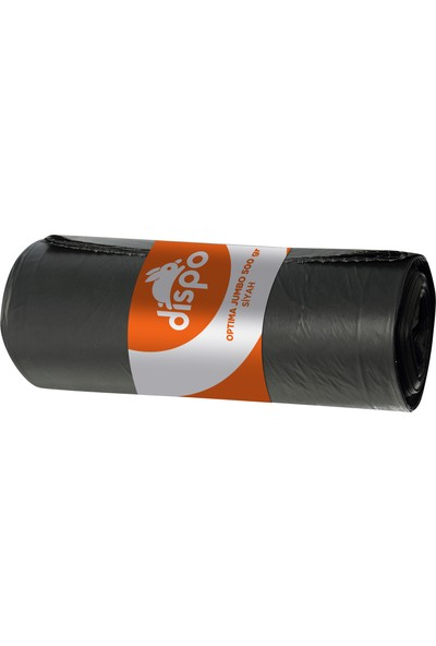 Dispo Optima Jumbo 500 gr. Siyah Çöp Poşeti 80x110 cm-30,5 mikron