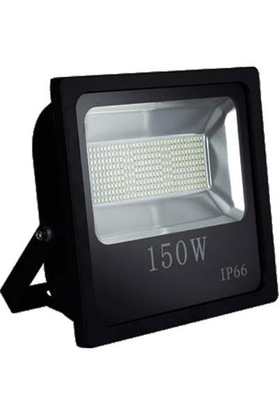 Foblight Led Projektör 150 Watt Siyah Kasa Beyaz Işık Smd Led