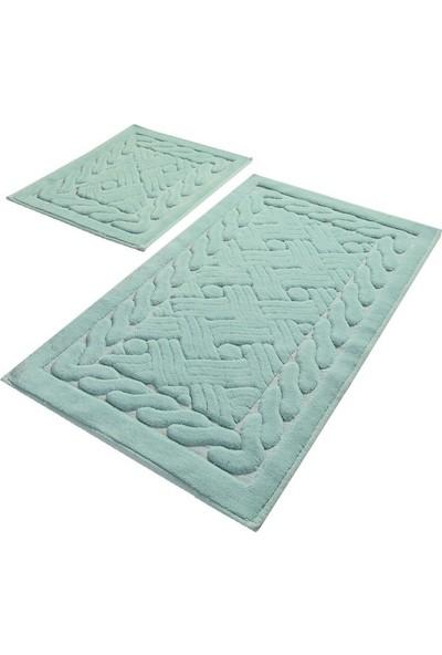 Chilai Home Danıel Mint Cotton 2 Li Set Banyo Halısı