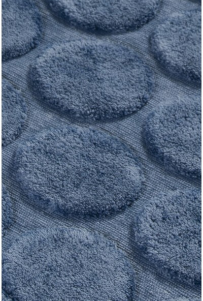 Chilai Home Laura Jean Cotton Mavi 2 Li Set Banyo Halısı