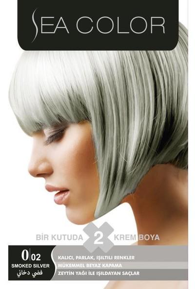 Sea Color 2'Li Krem Saç Boyası 0/02 Gümüş Gri