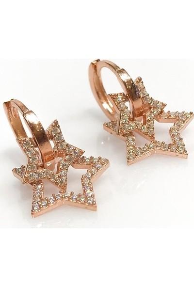 Magümüş Makp500 Yeni Stil Trend Yıldız Gümüş Star Küpe
