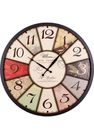 Ultima Regal Ultima Regal Ferforje Büyük Boy Yapraklı Duvar Saati
