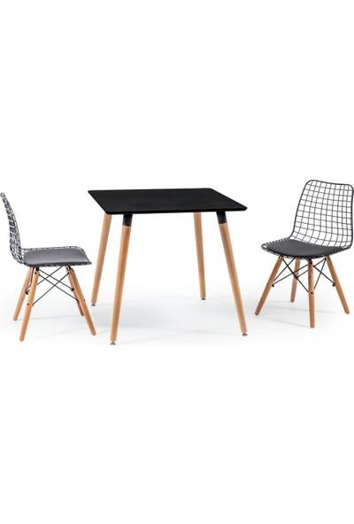 Hamdeko Eames Masa Metal Sandalye Takımı 14