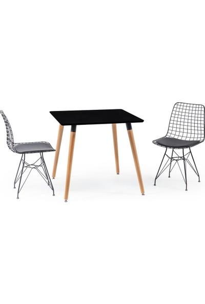 Hamdeko Eames Masa Metal Sandalye Takımı 15