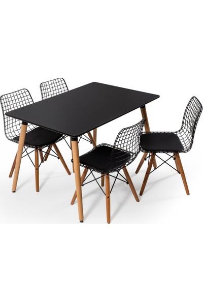 Hamdeko Eames Masa Metal Sandalye Takımı 13