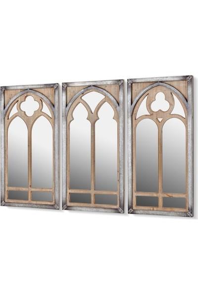 Cemile 3 Kubbeli Ayna Seti