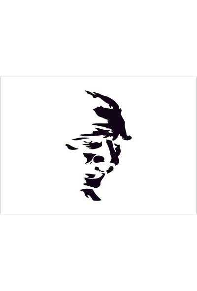 Başaran Sticker Mustafa Kemal Atatürk Araba Arma Sticker