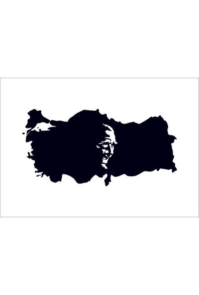 Başaran Sticker Türkiye Ve Atatürk Araba Arma Sticker