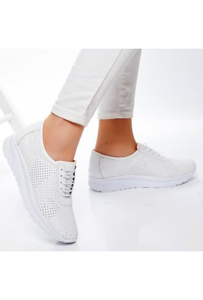 Efem 199 Kadın Deri Spor Ayakkabı