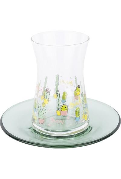 Tantitoni 12 Parça Lovely Cactus Çay Bardağı Takımı