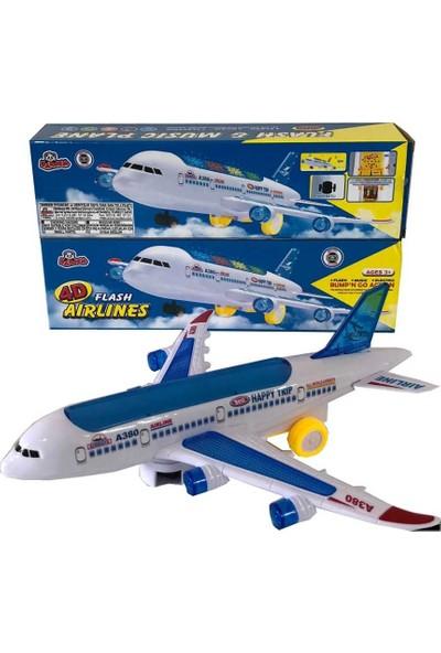 Vardem Kutulu Işıklı Sesli Yolcu Uçağı A380-600 (4D Flash)