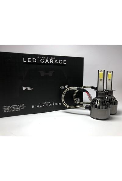 Led Garage Black Edition H1 Led Xenon 8400 Lümen 6500K Beyaz Şimşek Etkili