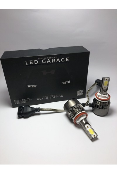Led Garage Black Edition H11 Led Xenon 8400 Lümen 6500K Beyaz Şimşek Etkili