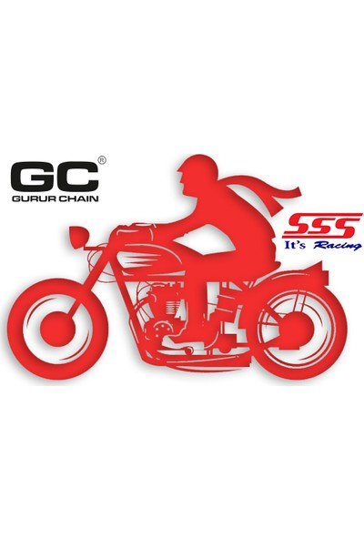 SSS Suzuki RM 125 (2010) Uyumlu 520 x 51 T Motorsiklet Arka Dişlisi