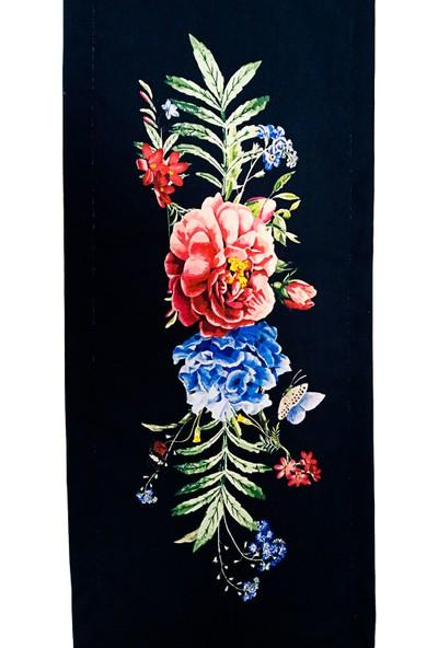 Atölye No 35 Çiçek Desen Watercolor Runner