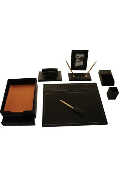 Maya Deri Sumen Takimi 8'Li+2 Kalem siyah Kapakli