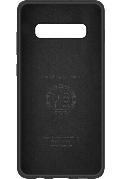 Spigen Samsung Galaxy S10 Plus Kılıf Silikon Fit Black - 606CS25783