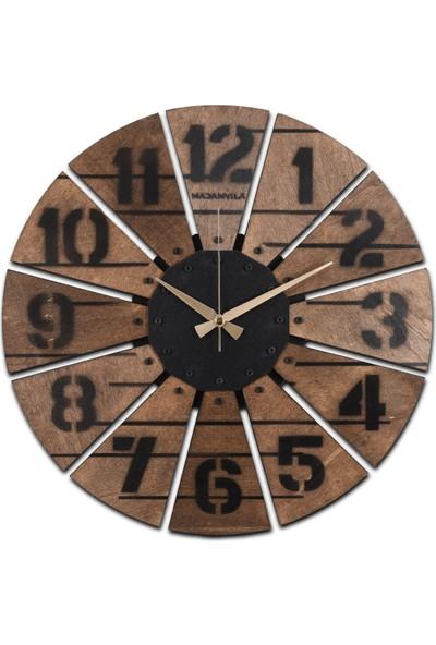 Vedemo Wooden Dekoratif Saat Ahşap Duvar Saati 43 cm