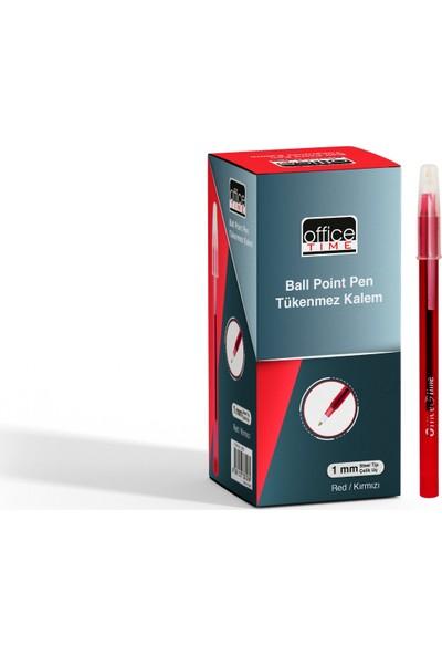 Office Time Tükenmez Kalem Kırmızı 50'li Kutu