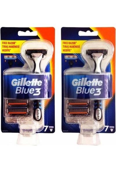 Gillette Blue3 Makina + 6 Yedek Bıçak x 2 Adet