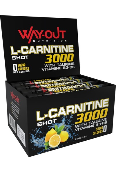 Way-Out Nutrition L-Carnitine Shot 3000 25 ml 12 shot