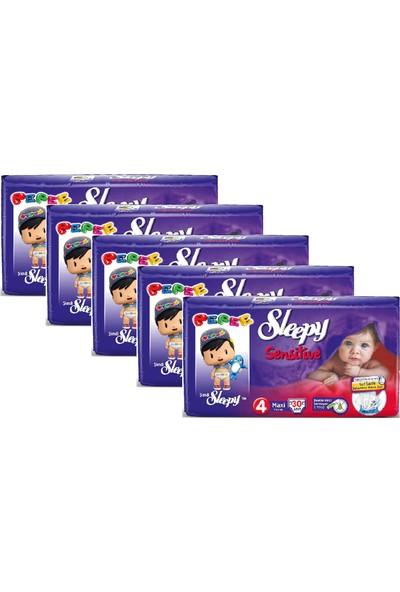 Sleepy Sensitive Bebek Bezi̇ 4 Numara - 30'lu 5 Paket - Toplam 150 Adet