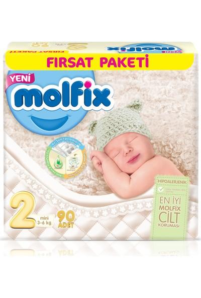 Molfix Bebek Bezi 2 Beden Mini Fırsat Paketi 90 Adet