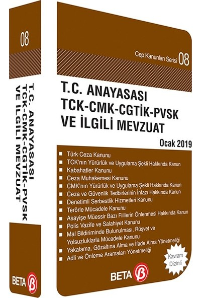 T.C. Anayasası Tck-Cmk-Cgtik-Pvsk Ve İlgili Mevzuat - Celal Ülgen