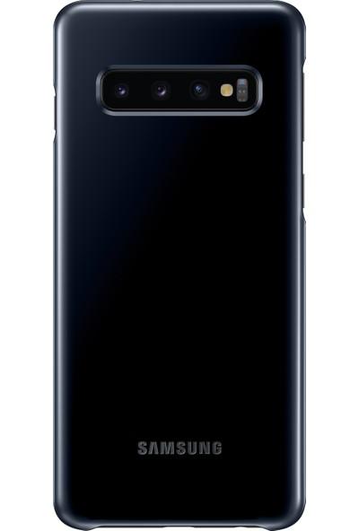 Samsung S10 Led Cover (Siyah)-EF-KG973CBEGWW