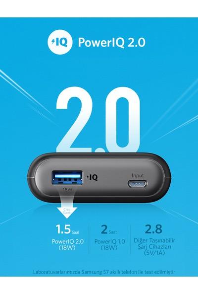 Anker PowerCore II 10000 mAh Taşınabilir Şarj Aleti Powerbank - PowerIQ 2.0 (18W'a kadar çıkış gücü) - Siyah - A1230H11 - OFP