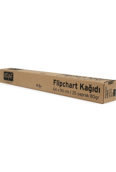 Kraf Flipchart Kağıdı Rulo 25Yp 703G 80 Gram 90 X 64 Cm