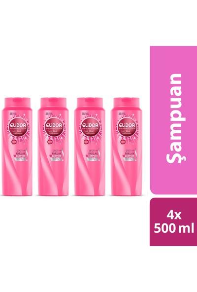 Elidor Güçlü Ve Parlak Şampuan 500ml x 4
