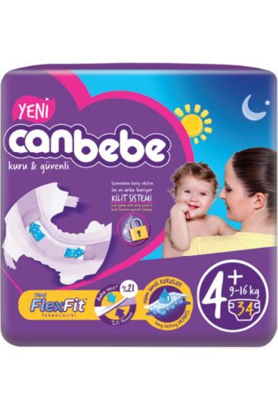 Canbebe Jumbo MaxiPlus (4+ Numara) 9-16 kg Paket İçi 34 Adet
