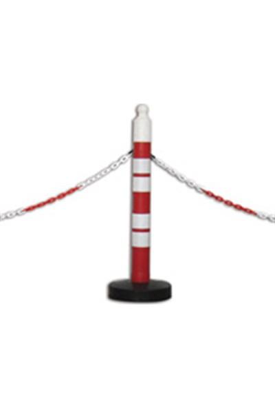 Evelux Plastik Zincir Kırmızı - Beyaz 3 M