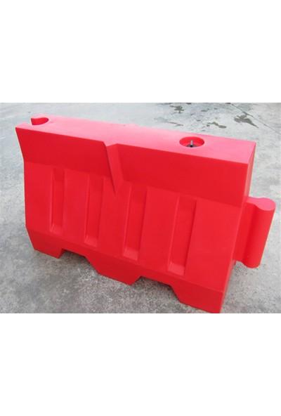 Polmersan Yol Bariyeri Kırmızı 120 X 80 X 50 Cm