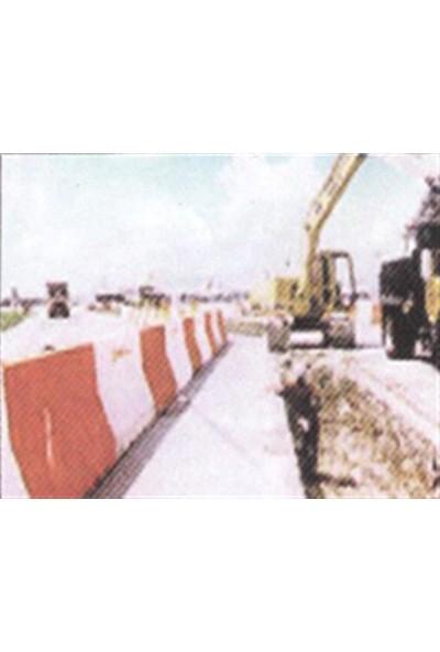 Polmersan Yol Bariyeri Kırmızı 120 X 50 X 50 Cm