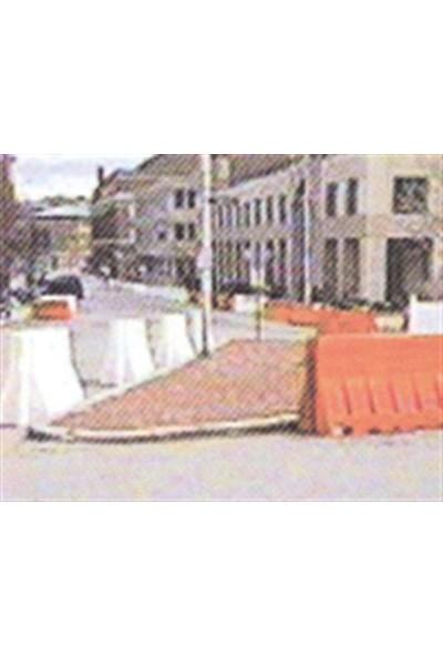 Polmersan Yol Bariyeri Beyaz 120 X 50 X 50 Cm