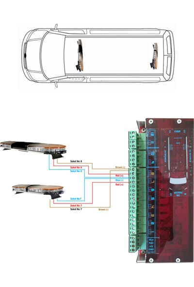 Lds Sharp Mini Tepe Lambası P-116 51 cm