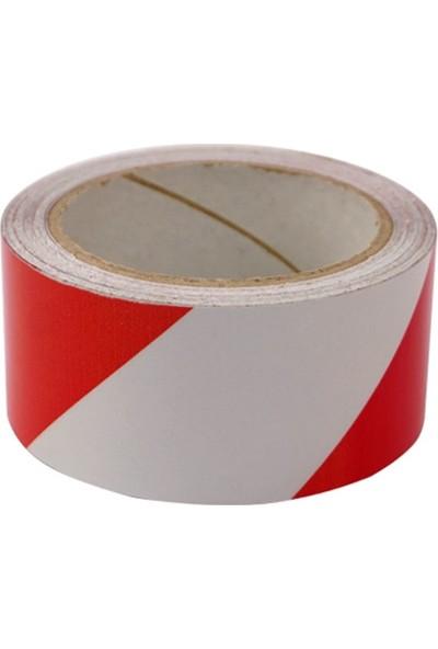 Evelux Kırmızı - Beyaz Reflektif Bant 5 Cm X 10 M