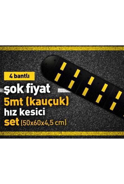 Asya Kauçuk Hız Kesici Set Kapaklı 5Mt 50X60 Cm 4 Bantlı