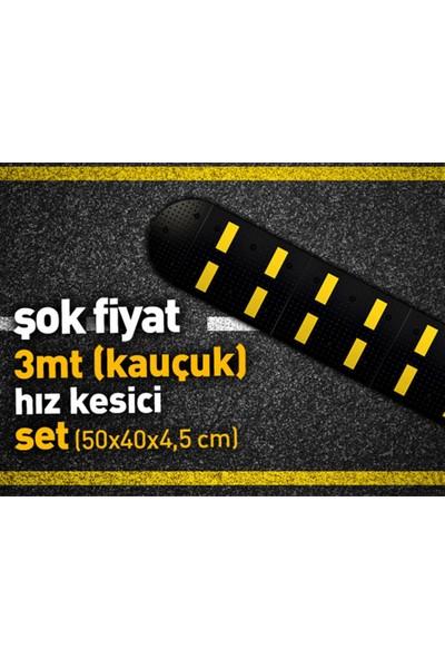 Asya Kauçuk Hız Kesici Set Kapaklı 3Mt 50X40 Cm