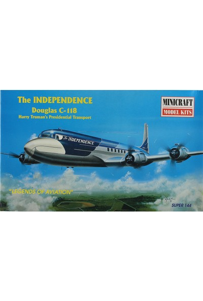 Minicraft 1/144 The Independence Douglas C-118 Yolcu Uçağı Maketi