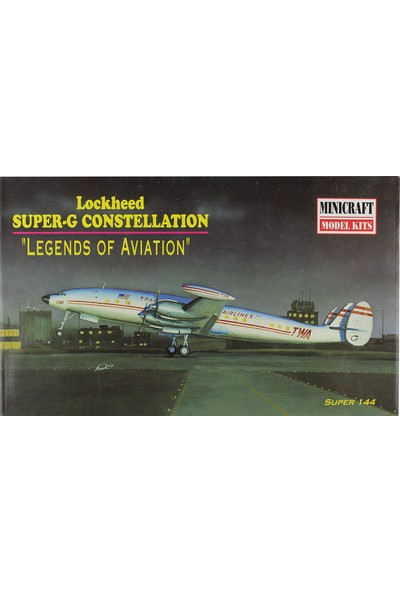 Minicraft 1/144 Lockheed Super-G Constellation Yolcu Uçağı Maketi