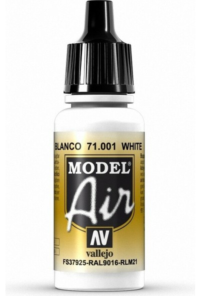 Vallejo 71001 Model Air White Maket Boyası