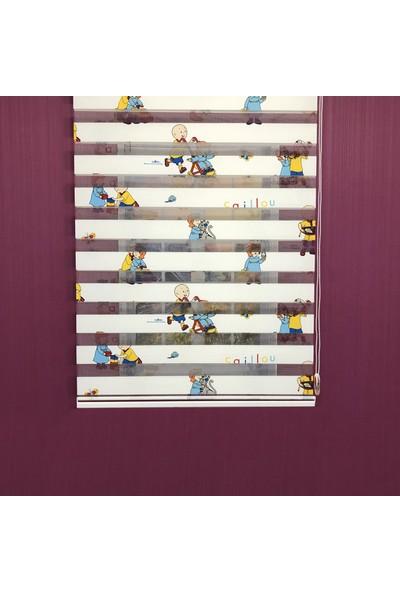Payidar Caillou 1461 Renkli Çocuk Odası Zebra Perde